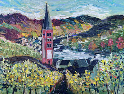 Painting - Merl Vineyard Germany by Roxy Rich