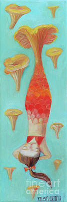 Painting - Mermaid Chanterelle  by Manami Lingerfelt