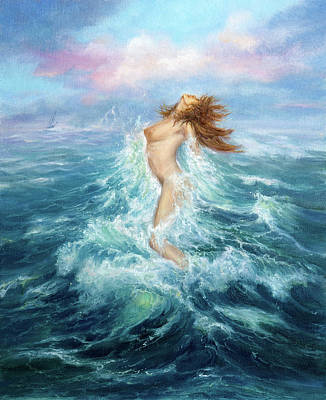 Landscapes Royalty-Free and Rights-Managed Images - Mermaid exits ocean by Boyan Dimitrov