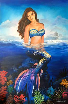 Painting - Mermaid by Robert Korhonen