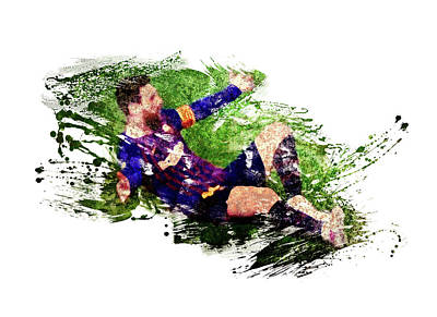 Sports Royalty-Free and Rights-Managed Images - Messi celebration by All Sport Art