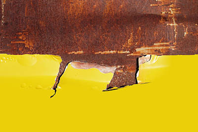 Royalty-Free and Rights-Managed Images - Metal Rust Background Yellow. old metal iron rust texture  by Julien