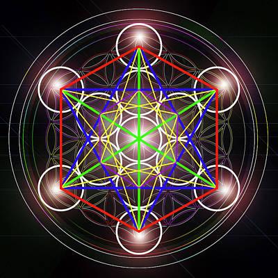 Digital Art - Metatrons Cube_1 by Az Jackson