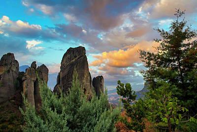 Photograph - Meteora by Manolis Tsantakis