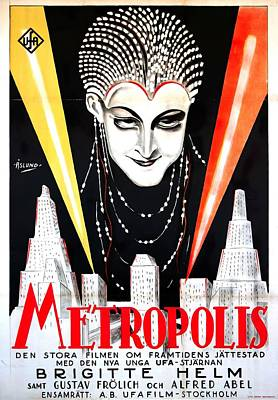 Mixed Media Royalty Free Images - Metropolis, with Brigitte Helm, 1927 Royalty-Free Image by Stars on Art