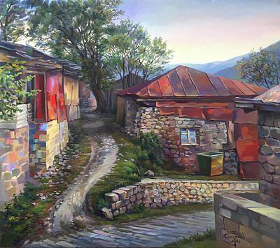 Painting - Mets Tagher village Hadrut region Artsakh by Meruzhan Khachatryan