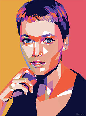 Royalty-Free and Rights-Managed Images - Mia Farrow by Stars on Art
