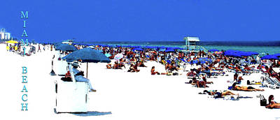 Olympic Sports - Miami Beach summer by David Lee Thompson