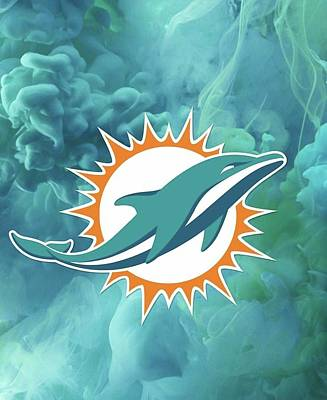 Sports Royalty-Free and Rights-Managed Images - Miami Dolphins Football  by Michael Stout