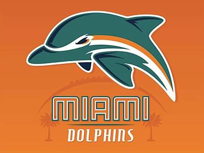 Sports Royalty-Free and Rights-Managed Images - Miami Dolphins  by Michael Stout