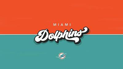 Sports Royalty-Free and Rights-Managed Images - Miami Dolphins Nfl  by Michael Stout