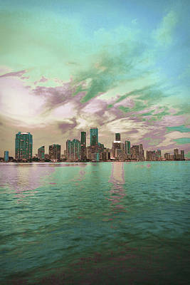Surrealism Royalty-Free and Rights-Managed Images - Miami skyline, United States 5 - Surreal Art by Ahmet Asar by Celestial Images