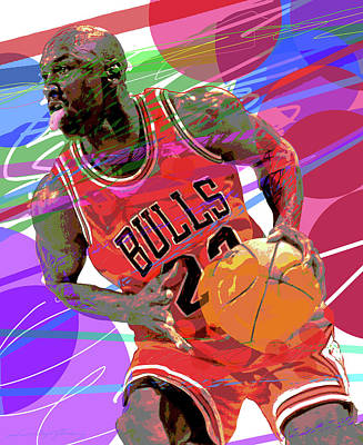 Urban Abstracts - Michael Jordan King Of The Court by David Lloyd Glover