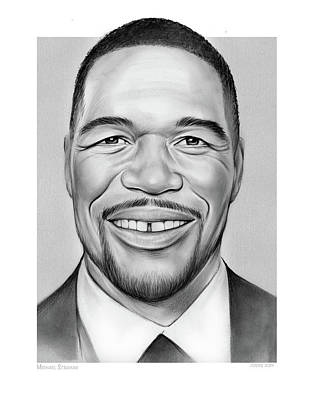 Modern Sophistication Line Drawings - Michael Strahan by Greg Joens
