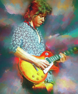 Travel Rights Managed Images - Mick Taylor Guitarist Royalty-Free Image by Mal Bray