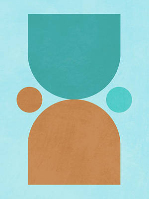 Royalty-Free and Rights-Managed Images - Mid Century Modern Print 16 - Minimal Geometric Poster - Stylish, Abstract, Contemporary - Coastal by Studio Grafiikka