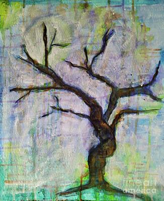 Mixed Media - Midnight Tree by Mimulux patricia No