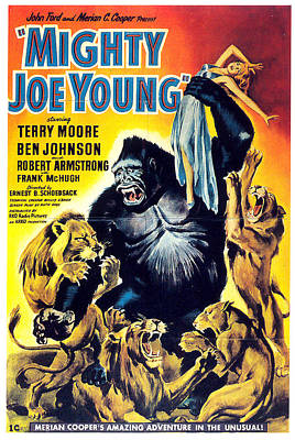 Mixed Media Royalty Free Images - Mighty Joe Young movie poster 1949 Royalty-Free Image by Stars on Art