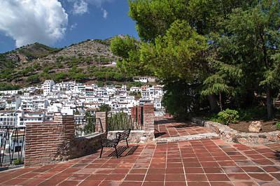 Caravaggio - Mijas Pueblo Overview from Parque La Muralla 1 by Jenny Rainbow