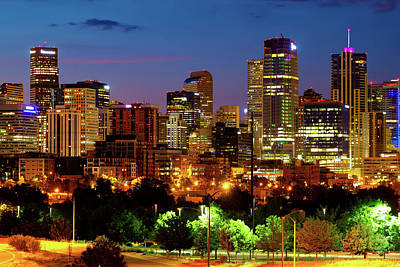 Royalty-Free and Rights-Managed Images - Mile High City Skyline - Denver Colorado at Twilight by Gregory Ballos