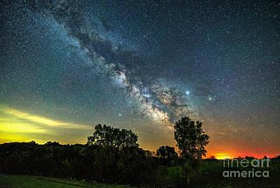 Photograph - Milky Way Firefly by Willard Sharp
