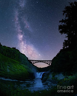 Photograph - Milky Way over Letchworth by Megan Crandlemire