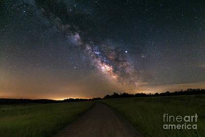Photograph - Milky Way, Shenandoah by Brandon Adkins