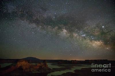 Photograph - Milkyway over Alstrom Point by Keith Kapple