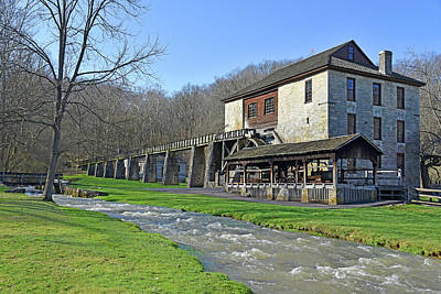 Scifi Portrait Collection - Mill Building Spring Mill State Park by Robert Tubesing