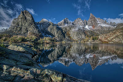 Black And White Flower Photography - Minaret Lake by Romeo Victor