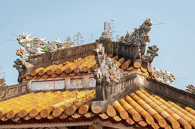 Fantasy Royalty-Free and Rights-Managed Images - Minh Mang Tomb Roof by Rob Hemphill