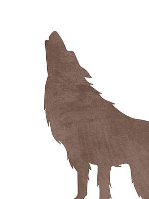 Animals Photos - Minimal Wolf Silhouette - Scandinavian Nursery Decor - Animal Friends - For Kids Room - Brown by Studio Grafiikka