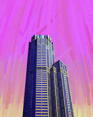 Royalty-Free and Rights-Managed Images - Minimalism in Architecture - Chicago, IL, USA - painting by Ahmet Asar by Celestial Images