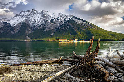 Photograph - Minnewanka Boat House by Thomas Nay