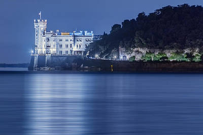 Photograph - Miramare Castle At Twilight by Videophotoart Com