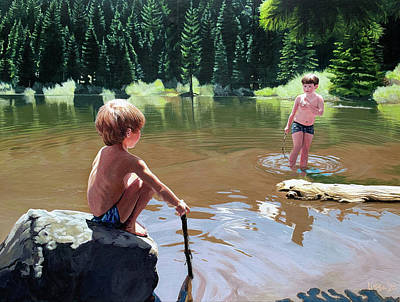 Painting - Mirror Lake by Lissa Banks