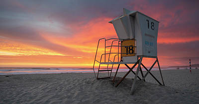 Photograph - Mission Beach Colorful Sunset by William Dunigan
