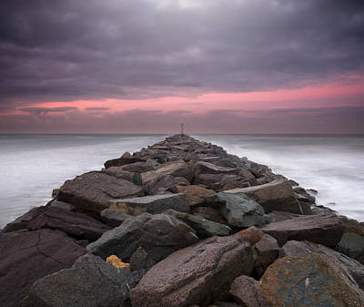 Photograph - Mission Beach Jetty Sunrise by William Dunigan