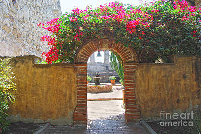 Queen Rights Managed Images - Mission Courtyard Archway Royalty-Free Image by Catherine Sherman