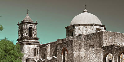 Game Of Chess - Mission San Jose Panorama at Dusk - San Antonio Texas by Gregory Ballos