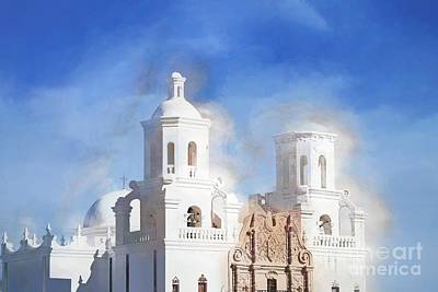 David Bowie Royalty Free Images - Mission San Xavier del Bac Impressionism Royalty-Free Image by Gary Richards