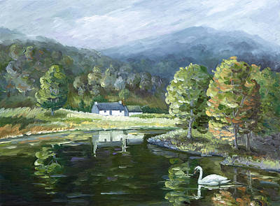 Painting - Mist Covered Moutains of Home by Paula McHugh