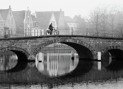 Photograph - Misty Morning in Bruges  by Barry O Carroll