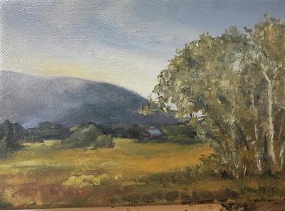Painting - Misty Morning by Rachel Barlow