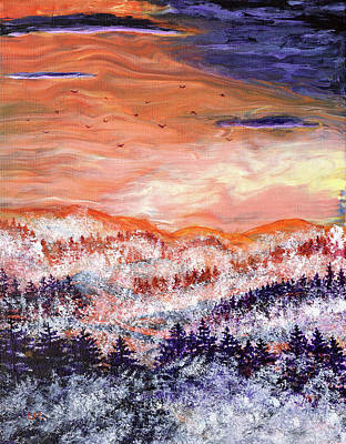 Painting - Misty Pacific Northwest Sunset by Laura Iverson