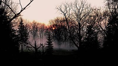 Landscape Photos Chad Dutson - Misty Sunrise Silhouettes by Hanne Lore Koehler