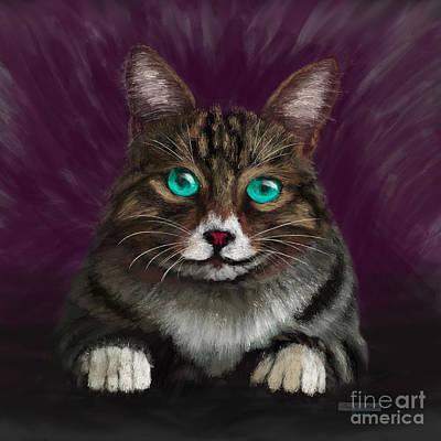 Animals Digital Art - Mittens Kitten by Gary F Richards
