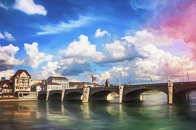 Venice Beach Bungalow - Mittlere Brucke Basel Switzerland  by Carol Japp