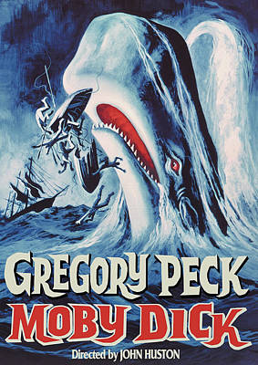 Royalty-Free and Rights-Managed Images - Moby Dick movie poster 1956 Gregory Peck by Stars on Art