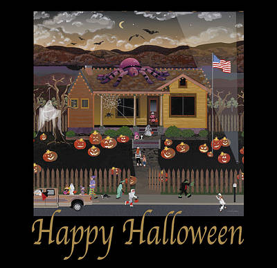Pittsburgh According To Ron Magnes - Modern Halloween 2/4 Products by Julie Pace Hoff
